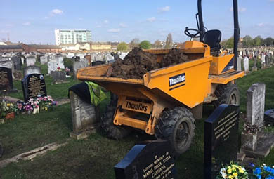 Use of a Dumper within the Cemetery and Churchyard | Lantra