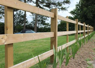 Fencing Post And Rail Fence