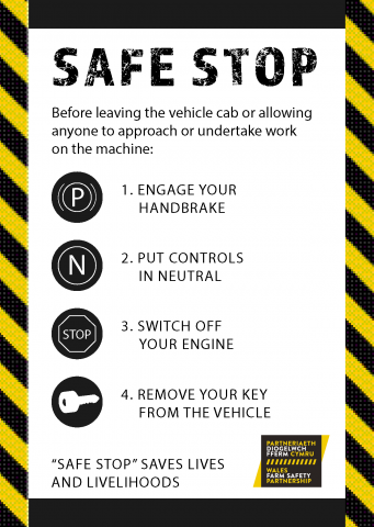 A list of top tips for safe stop